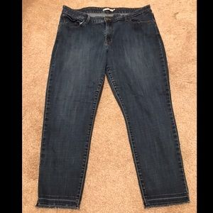 Levi's 711 Skinny, Dark Wash, Mid/High Rise Jeans